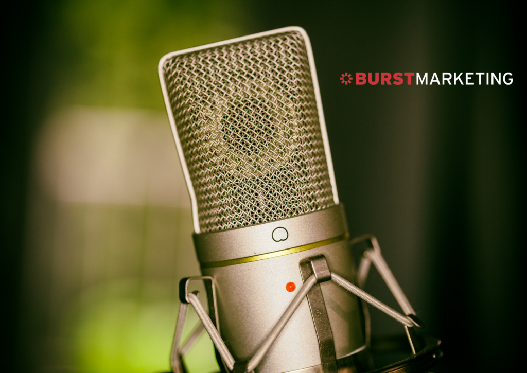 Picture of Condenser Microphone with Burst Marketing Logo